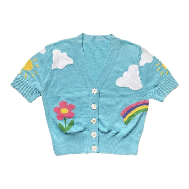 Blue Sky Button-Up Top