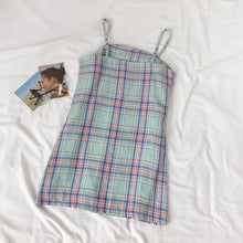 Load image into Gallery viewer, Pastel Plaid Cami Dress