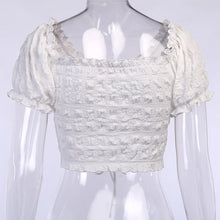 Load image into Gallery viewer, Peony Ruched Puff Sleeve Blouse