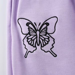 Lilac Butterfly Sweatpants