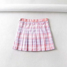 Load image into Gallery viewer, Plaid Button-Up Top / Pleated Skirt