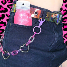 Load image into Gallery viewer, Heart Charm Wallet Chain