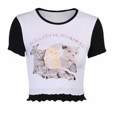 Load image into Gallery viewer, Kitty Kat Trio Graphic Top