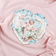 Load image into Gallery viewer, Blush Cherub Ruched Crop Top