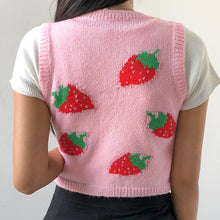 Load image into Gallery viewer, Strawberry Knit Sweater Vest