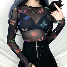 Load image into Gallery viewer, Flutter Wings Mesh Long Sleeve Top