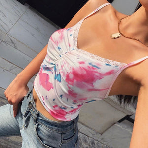 Cotton Candy Cami Crop Top