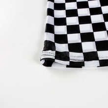 Load image into Gallery viewer, Checkerboard Mesh Long Sleeve Top