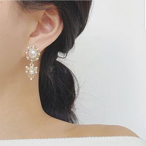Sweetheart Pearl Drop Earrings
