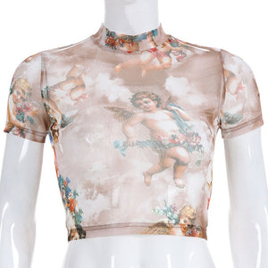 Cherub Mesh Crop Top