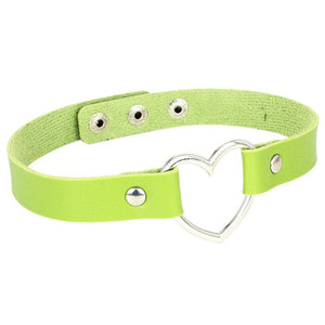 Heart Leather Choker