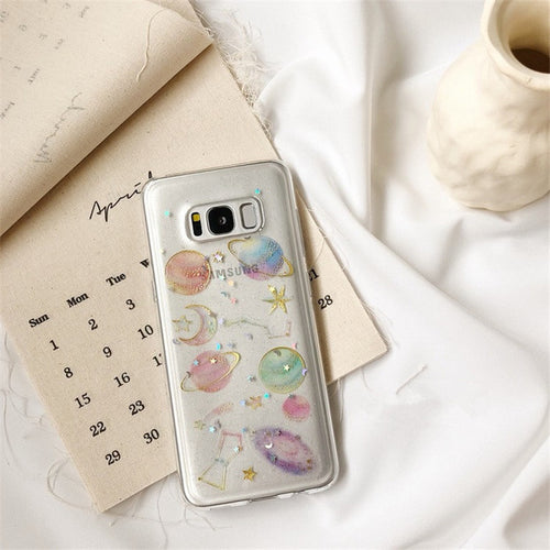 Glitter Galaxy Samsung Phone Case