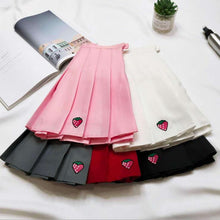 Load image into Gallery viewer, Strawberry Pleated Tennis Skirt