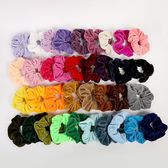 MULTI-Color Velvet Scrunchies