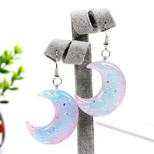 Load image into Gallery viewer, Pastel Glitter Moon Earrings