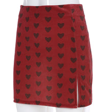 Load image into Gallery viewer, Side Slit Heart A-Line Skirt