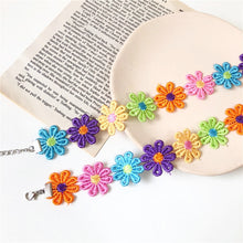 Load image into Gallery viewer, Colorful Crochet Daisy (Choker / Bracelet)