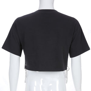 ROCKMORE Chain Graphic Crop Top