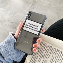 Load image into Gallery viewer, SOCIAL MEDIA SERIOUSLY HARMS YOUR MENTAL HEALTH iPhone Case