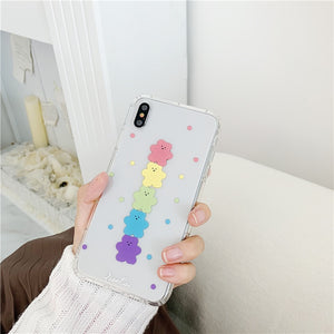 Neon Rainbow Gummy Bear iPhone Case