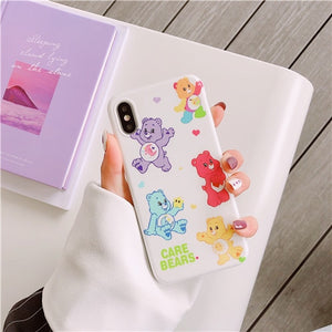 Moon Care Bears iPhone Case