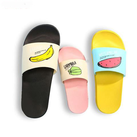 Extremely Soft Flexible Fruit Slippers