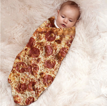 Load image into Gallery viewer, Pizza/Donut/Burger Fleece Blanket (NEW)