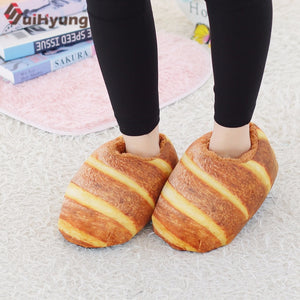 Breaded Plush Non-slip Slippers