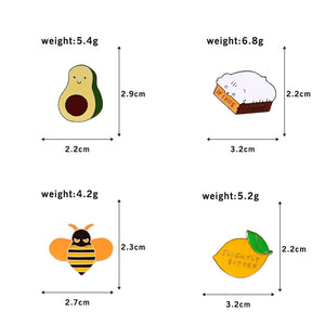 Gourmet Cartoon Pins