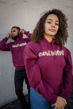 Load image into Gallery viewer, CurlMob Burgundy Hoodie