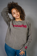 Load image into Gallery viewer, CurlMob Grey Crew Neck
