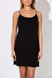 Basic Cotton Slip - Black