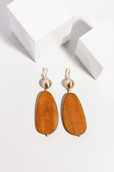 Saintly Earrings - Tan