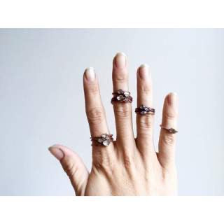 Raw crystal Copper Stacker Ring /1 Ring Only