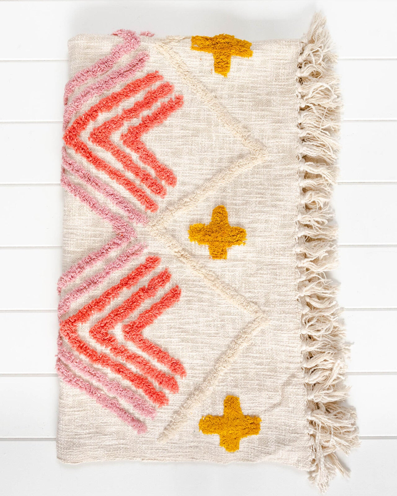 Throw Blanket - Miwok - Natural/Multi