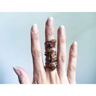 Raw Amber Copper Stacker Ring / 1Ring Only