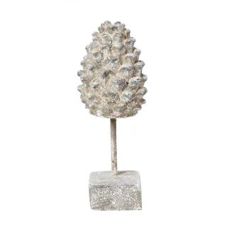 PINECONE ORNAMENT ON STAND SMALL