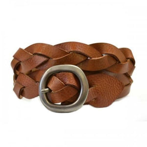 Plain Leather Belt Tan
