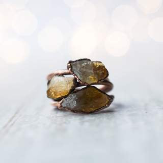 Raw Citrine CopperStacker Ring / 1 Ring Only