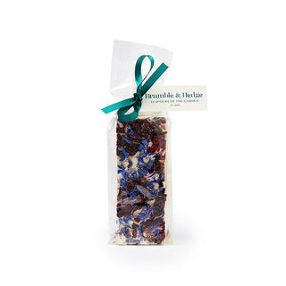 Blackberry & candied violets cornflowers & Belgian white chocolate nougat