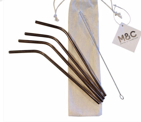 4pk Stainless Steel Straws