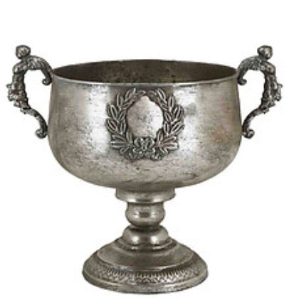 Metal Urn - Antique Silver
