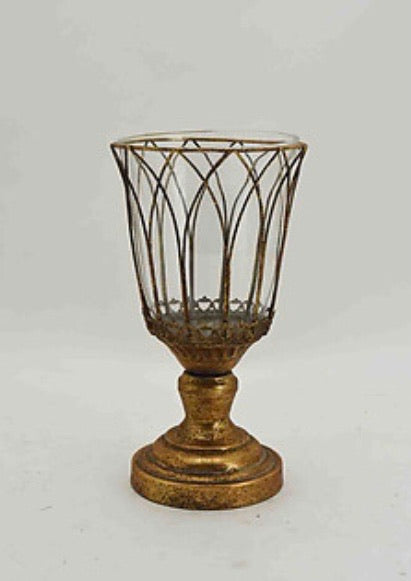 Vintage Gold Candle Holder