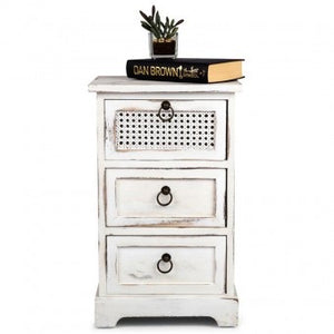 Lorette French-Chic 3-Drawer Side Table