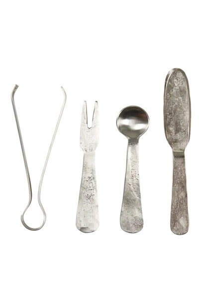 TRIBU COCKTAIL / CHEESE SET - SILVER