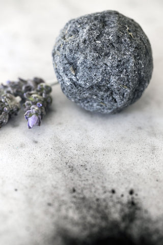 Hand Made Round Soap - Sage & Lavender Charcoal