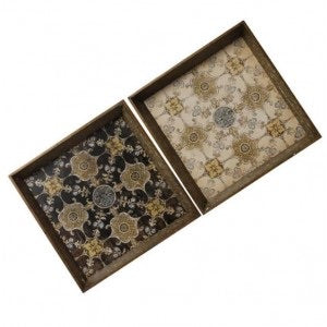 Vantage SQ Tray (Black or Antique Cream)