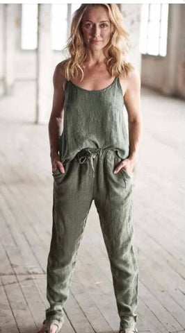 The Linen Lounge Pants - Khaki M/L