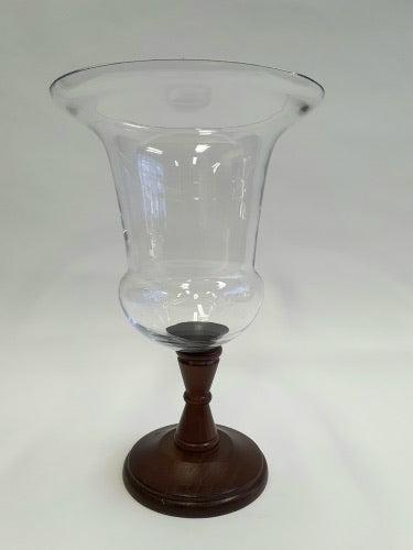 35cm Lg Glass Hurricane  Pillar Holder