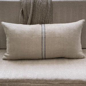 Blue Stripe Handloomed/Rustic Linen Cushion Cover only 40x80cm